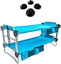 Disc-O-Bed Youth Kid-O-Bunk Benchable Camping Cot, Teal & Non-Slip Foot Pads