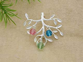 Family Tree Brooch, Mothers Day gift for Grandmother, Family Jewelry, Mother's Brooch, Grandparent Gift, Grandmother Jewelry, Birthstone Jewelry, Personalized Brooch