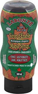 Labonte Organic Maple Syrup, 369ml/12.5oz, Imported from Canada}