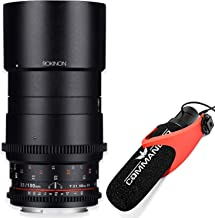 Rokinon Cine DS 100mm T3.1 Telephoto Macro Cine Lens for Micro Four Thirds (DS100M-MFT) with Commander Super Cardiod Condenser Microphone