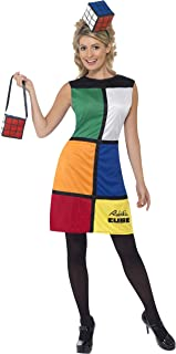 Smiffys Women's Rubik's Cube Costume, Dress, Headband & Bag, Size: L, Color: Multi, 38791