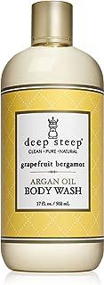 Deep Steep Argan Oil Body Wash, Grapefruit Bergamot, 17 Ounce