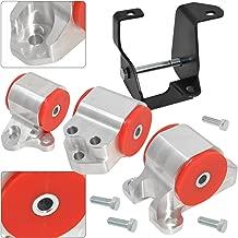AJP Distributors For Civic B-Series B16 B18 B20 B18A B18C Polyurethane Engine Swap Motor Mounts Kit Red
