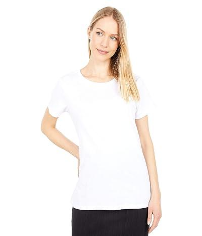 PACT Organic Cotton Midweight Crew Neck Tee (White) Women