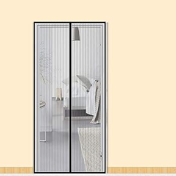 Upgrade der linken oder rechten Seite /Öffnungs Magnetischer Fliegenvorhang Praktischer Mosktionetz f/ür T/ürgr/ö/ßen bis zu 90x210 cm fowong Magnet Fliegengitter T/ür 90x210 cm Insektenschutz Balkont/ür