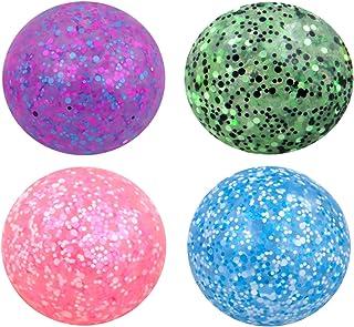 "Entervending Stress Relief Toys Set 2"" Stress Balls for Kids - Squeeze Balls Confetti Fidget Toys - Sensory Toys 4 pcs"