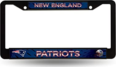 Rico Industries, Inc. New England Patriots BLACK PLASTIC FRAME License Plate Tag Cover Football