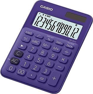 Casio 卡西欧 MS-20UC-PK 台式计算器 12 位 2.3 × 10.5 × 14.95 厘米 浅粉色 20UC-PL Tischrechner, 12-stellig 紫罗兰色