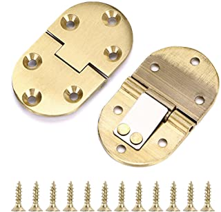OwnMy 2Pcs 90 Degree Solid Brass Hinge, Drop Front Desk Drawer Butt Hinge for Table Sewing Machine,Doors and Folding Table with Screws (2Pcs 90 Degree)