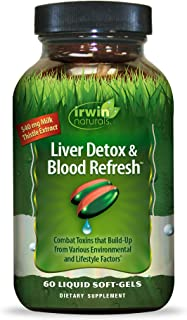 Irwin Naturals Liver Detox & Blood Refresh Powerful Herbal Whole-Body Cleanse & Detox with 540mg Milk Thistle, Dandelion, ...