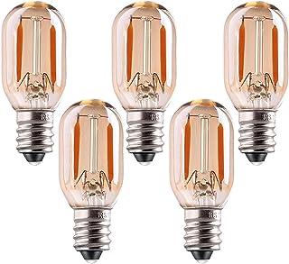 Bombilla LED T22, 1W Vintage Noche de Noche Tubular Resplandor Ámbar 10w Reemplazos incandescentes E14 Base de filamento LED Ultra cálido Blanco 2200K Paquete no regulable 5