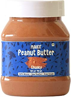 Planut Chemical Free Peanut Butter, Chunky, Sweetened, 190g | All-natural, High Protein