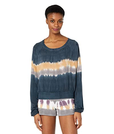 Hard Tail Crop Sweatshirt (Multicolor Lines # 2) Women