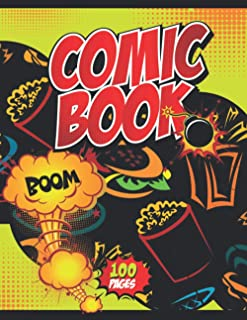 Comic Book Boom!: Notebook and Sketchbook for Kids and Adults to Unleash Creativity | Draw Your Own Comics! (Fast Food The...