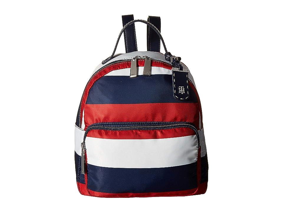 Tommy Hilfiger Julia Backpack Rugby Nylon (Navy/Natural) Backpack Bags