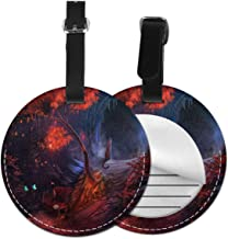 Forest Love PU Leather Round Luggage Tags Suitcase Backpacks Labels Bag 1 piece