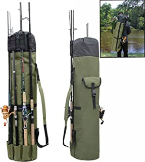 AGOOL Fishing Rod Bag Holder Fishing Rod Carrier Fishing Pole Travel Case Tackle Box Storage Multifunctional Stand Bags La...