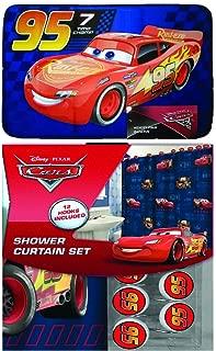 Hand and Fingertip Towel Sets Cars 3 Pieces Pixar 100/% Cotton Bath