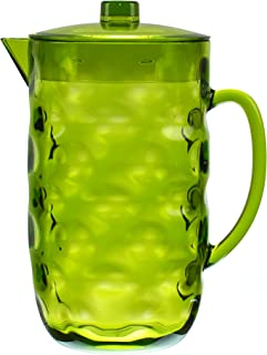 QG Acrylic Plastic Pitcher with Lid BPA Free - Great for Iced Tea & Water - Green - 0.63 Gallon / 80 oz. / 2.5 Quart