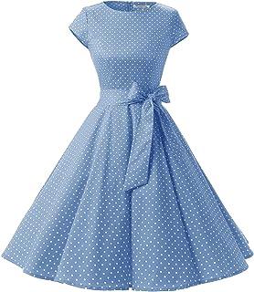 1c2de13389c55 Dressystar Women Vintage 1950s Retro Rockabilly Prom Dresses Cap-Sleeve