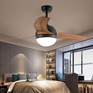 Unique 3-Blades Ceiling Fan Led Light With Remote Control Modern 48 Inch For Home Indoor Living Room Bedroom