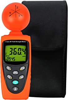 Triple Axis Radio Frequency (RF) Digital Field Strength Meter EMF Radiation Cell Phones, Smart Meters, Home Inspections 50MHz ~ 3.5GHz Frequency ElectroSmog Power Meter Tester