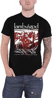 Lamb Of God T Shirt Enough Is Enough Band Logo Official Mens Black