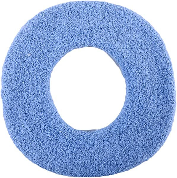 Meoliny Bathroom Seat Cover Pads Soft Thicker Warmer Stretchable Washable Cloth Toilet Seat Cover PadsBlue 3028cm