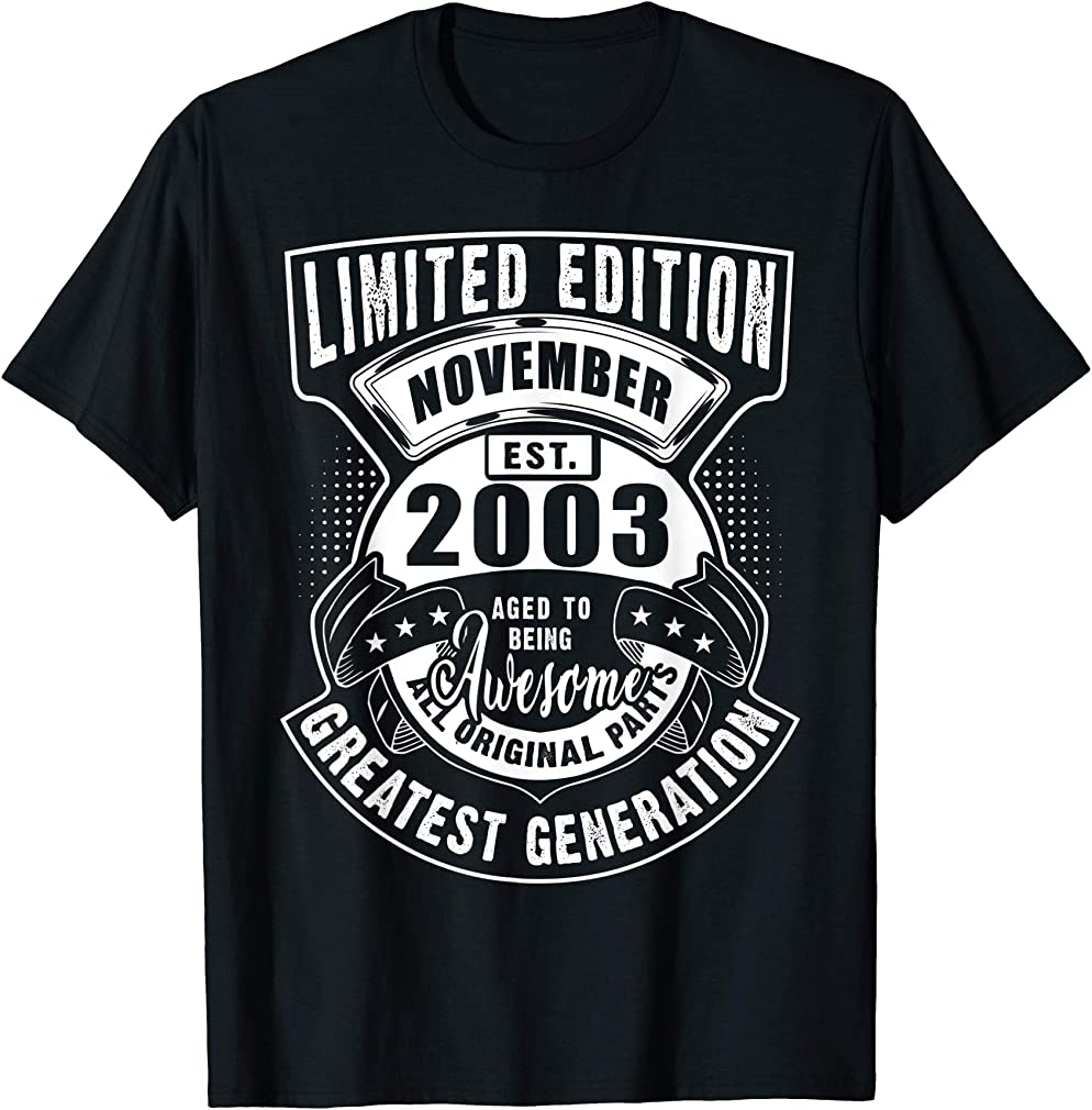 Age Being Awesome November 2003 Birthday Gift For 16 Yrs Old T-shirt