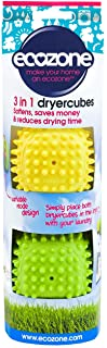Ecozone Dryer Cubes, Tumble Dryer Balls, Softens, Saves Money, and Reduces Drying Time, Pack of 2 -