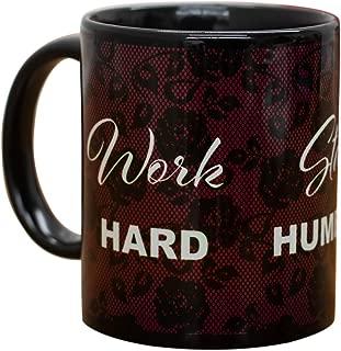 Work Hard Stay Humble and Be Kind Black 11 Oz Ceramic Stoneware Coffee Mug