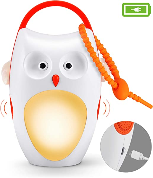 Baby Sleep Soother Shusher Sound Machines Baby Gift Rechargeable Portable White Noise Machine With Night Light 8 Soothing Sounds And 3 Timers For Traveling Sleeping Baby Carriage Owl
