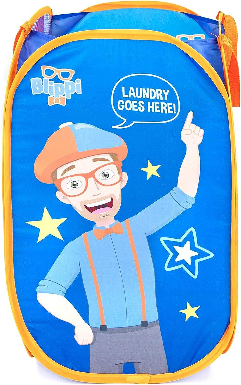 Rare Jay Franco Blippi Pop Up Hamper - Mesh D Basket with Laundry Courier shipping free Bag