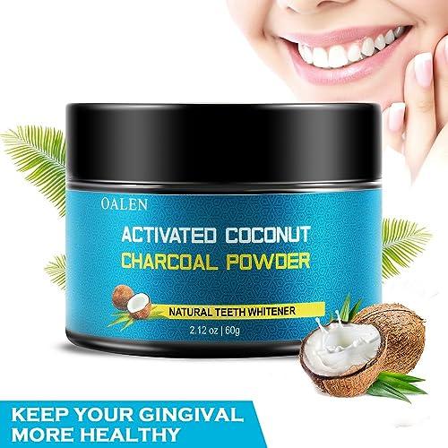 Blanqueamiento de dientes de carbón activado, blanqueador de dientes 100% natural, blanqueamiento de