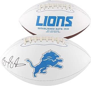 Barry Sanders Detroit Lions Autographed White Panel Football - Fanatics Authentic Certified - Autographed Footballs