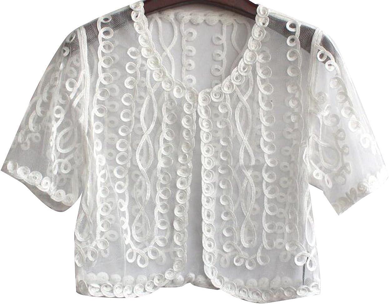 Retro Short Bolero Shrug Coat Lace Shrug Cardigan Beach Shawl