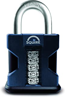 Squire Locks SS50 High Security Combination Padlock, Black