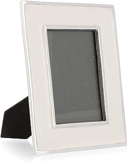 Boho Traders Aluminium Photo Frame Aluminium Photo Frame, Silver/White