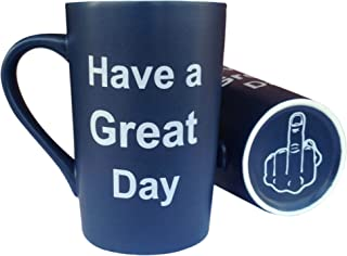 MAUAG Funny Christmas Gifts Coffee Mug Have a Great Day Funny Cup Dark Blue, 13Oz