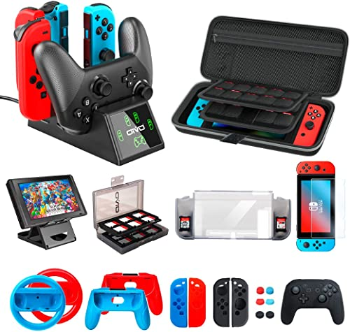 Accessories Kit Bundles Compatible with Nintendo Switch Starter, OIVO Accessories Bundle Kit for Nintendo Switch Cons...
