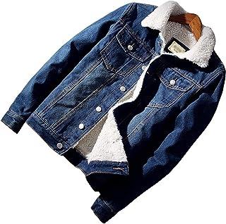 ANGELCITY ボアデニムジャケット メンズ 裏ボア ジージャン 厚手 防寒 コート ジージャン Gジャン 折り襟 アウター ブルゾン 防寒 ジーンズ