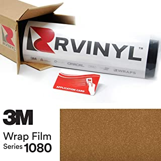 3M 1080 G241 Gloss Gold Metallic 5ft x 1ft W/Application Card Vinyl Vehicle Car Wrap Film Sheet Roll