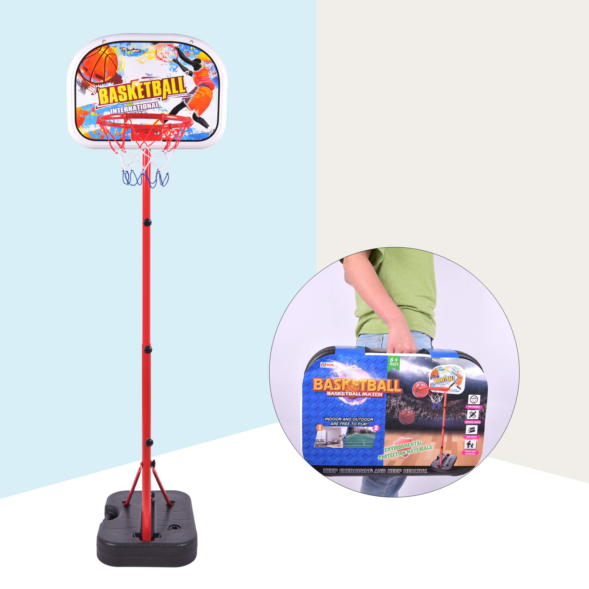Portzon Adjust Jam Basketball Hoop