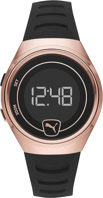 PUMA Men Faster Polyurethane Watch, Color: Black/Rose (Model: P5051)