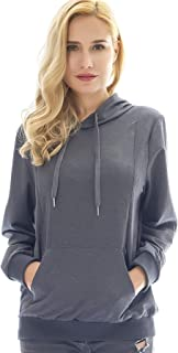 Women's Maternity Sporty Hoodie Breastfeeding Shirt Nursing Sweatshirt with Pockets