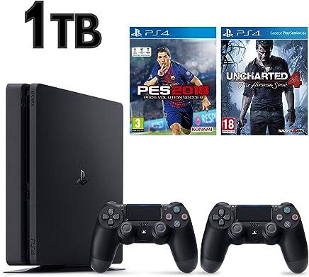 SONY PS4 SLİM 1TB OYUN KONSOLU + 2. KOL + PES 18 + UNCHARTED 4