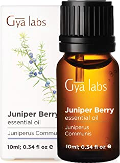 Gya Labs Juniper Berry Essential Oil - for Flawless Skin, Restful Sleep & Ache Free Days 10ml - 100% Pure T...