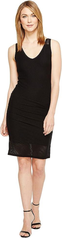 Mesh V-Neck Dress