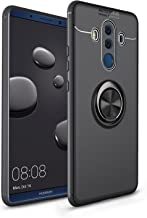 iCoverCase Compatible with Huawei Mate 10 Pro Case,[Invisible Matal Ring Bracket][Magnetic Support] Shockproof Anti-Scratch Ultra-Slim Protective Cover Case Kickstand (Gun Black)