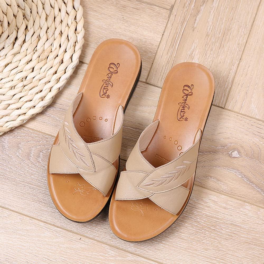 Kirin-1 OFFer Womans Reservation flip Flops Summer Female wear Leather Slippers So